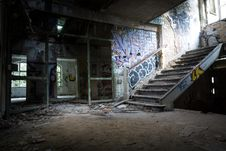 Free Graffiti Painted On Wall In Abandoned Building Royalty Free Stock Photography - 116371147