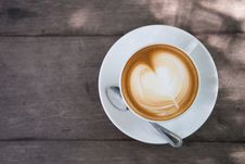 Free White Ceramic Cup On Saucer Royalty Free Stock Photography - 116371207