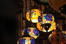 Free Brown Pendant Lamp Turn On Stock Photo - 116371230