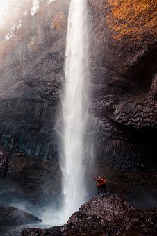 Free Two Man Beside Waterfall Taken At Daytime Stock Photo - 116371270