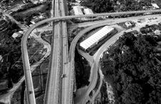 Free Grayscale Top View Photography Of Roads Near Trees Royalty Free Stock Photo - 116371295