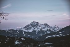 Free Scenic View Of Snow Capped Mountain Stock Image - 116371451