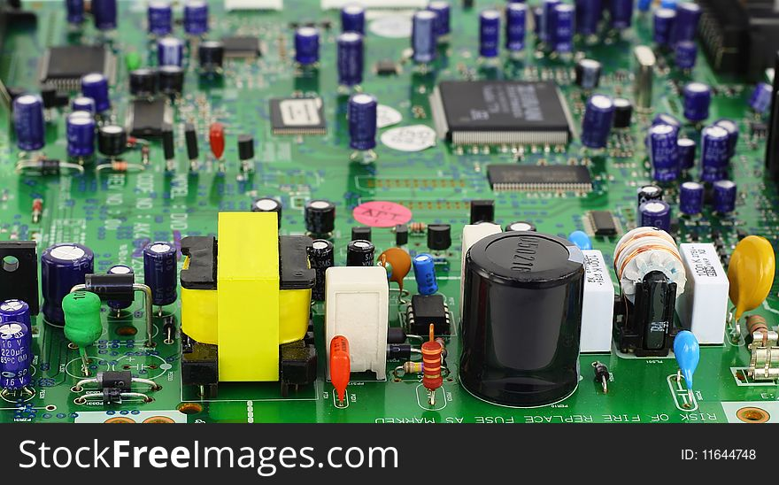 The  printed-circuit board with elements