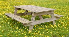 Free Furniture, Bench, Table, Grass Stock Image - 116413401