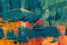 Free Teal And Orange Abstract Painting Stock Photography - 116433982