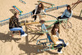 Free Pretty Girls Riding Merry-go-round Stock Photos - 11659883