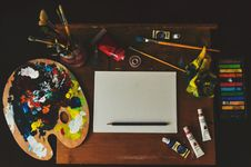 Free Assorted-color Artwork Equipment Set Stock Photography - 116504332