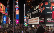 Free Time Square In New York Stock Photography - 116504472