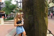 Free Women Standing Near Brown Monolith Stock Image - 116504511