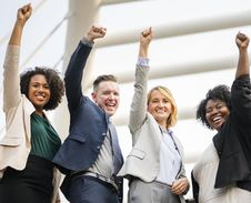 Free Group Of People Raising Right Hand Royalty Free Stock Photography - 116504617