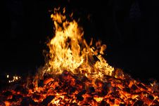 Free Fire, Flame, Bonfire, Campfire Stock Images - 116611264