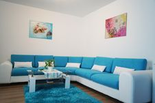 Free Blue, Living Room, Room, Property Stock Image - 116611791