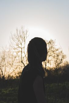 Free Silhouette Of Woman During Sunset Stock Photos - 116695223