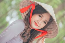 Free Close-Up Photography Of A Woman Wearing Conical Hat Stock Image - 116695461