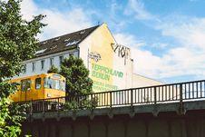 Free Yellow Train Beside Teppichland Berun Building Stock Images - 116695504