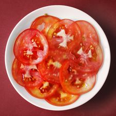 Free Top View Photography Of Sliced Tomatoes Royalty Free Stock Photo - 116695585
