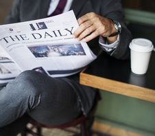 Free Photography Of A Person Reading Newspaper Royalty Free Stock Photo - 116695595
