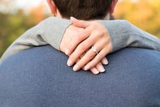 Free Woman Hand On Man S Neck Royalty Free Stock Photo - 116695675