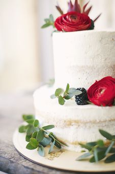 Free Close-Up Photography Of Cake With Flower Decor Stock Photos - 116695713