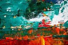 Free Green And Red Abstract Painting Royalty Free Stock Image - 116695726
