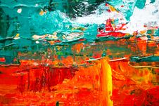 Free Multicolored Abstract Painting Royalty Free Stock Image - 116695776