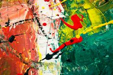 Free Green, White, And Red Abstract Painting Stock Photo - 116695780
