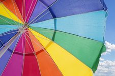Free Multicolored Outdoor Umbrella Under Cloudy Sky Stock Photography - 116696022