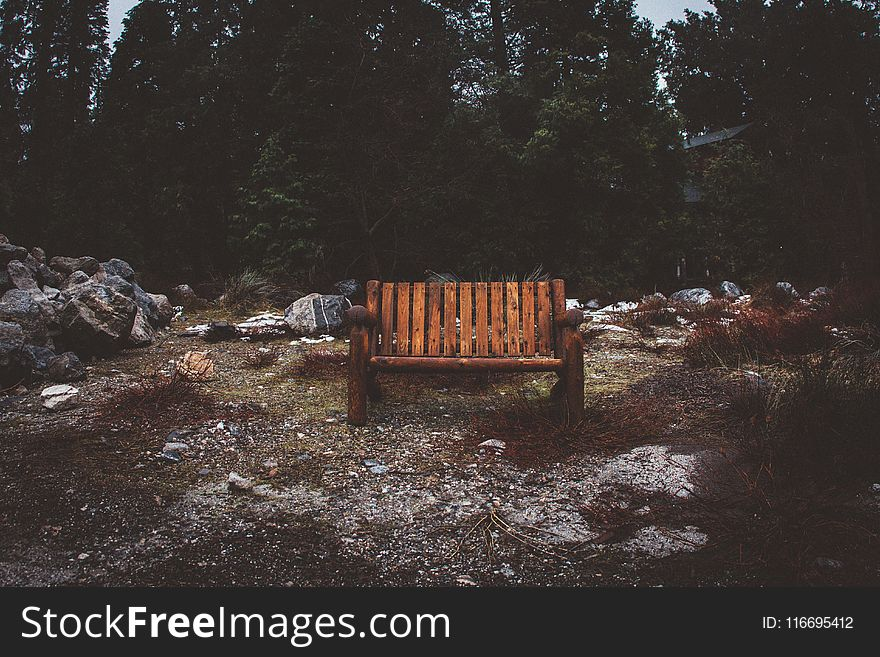 Brown Wooden Park Bench