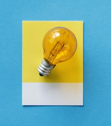 Free Blue, Bulb, Card Stock Images - 116706654