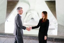 Free Man And Woman Shaking Hand In Focus Photography Stock Image - 116776331