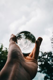 Free Photo Of Person Holding Clear Glass Ball Royalty Free Stock Photo - 116776345