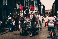 Free A Man Riding A Carriage Stock Photo - 116776390