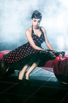 Free Woman Wearing Black And Red Polka-dot Dress Royalty Free Stock Photo - 116776465