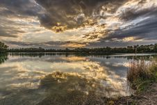 Free Sky Covered With Clouds With Lake Royalty Free Stock Image - 116776566