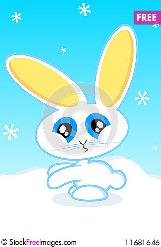 Free Holiday Bunny Vector Illustration Royalty Free Stock Image - 11681646