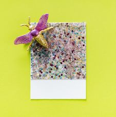 Free Multicolored Glittered With Fly Accent Stock Image - 116854101