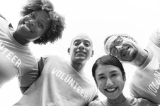 Free Grayscale Photography Of Group Of People Wearing Volunteer-printed Shirt Stock Photos - 116854123