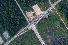 Free Bird S Eye View Photo Of Road Stock Photo - 116854380