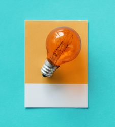 Free Bulb, Card, Colorful Royalty Free Stock Image - 116857556