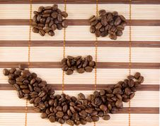 Free Smile With Coffee Beans On A Mat Royalty Free Stock Photo - 11691725