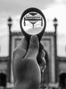 Free Grayscale Photo Of Person Holding Round Magnifying Glass Stock Images - 116927654