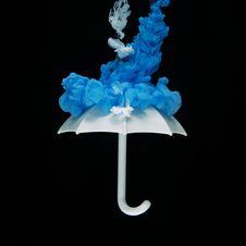 Free Photo Of White Umbrella With Blue Smoke Illustration Royalty Free Stock Image - 116927736