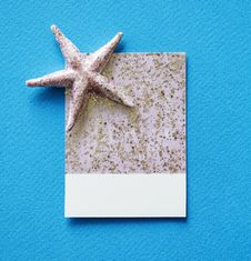Free Gray Starfish And White And Gray Paper On Blue Surface Stock Image - 116984421