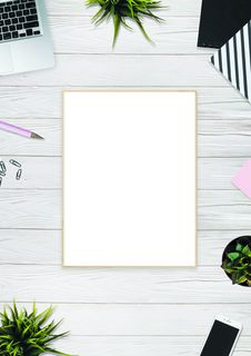 Free White Board On Beige Surface Royalty Free Stock Photo - 116984455