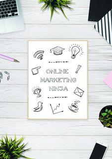 Free Online Marketing Ninja Royalty Free Stock Photography - 116984467