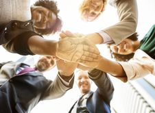 Free Low Angle Photo Of People Doing Huddle Up Royalty Free Stock Photos - 116984598