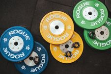 Free Several Rogue Gym Plates Royalty Free Stock Photos - 116984608