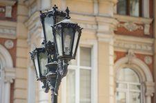 Free 3-light Lamp Post Stock Image - 116984721