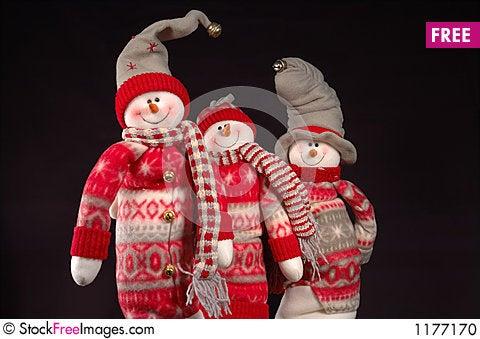 Snowpeople I Stock Photo
