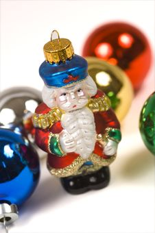 Free Christmas Ornaments- Crystal Santa Claus Royalty Free Stock Photography - 1170907